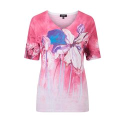Emreco V Neck Flower Print Top Pink