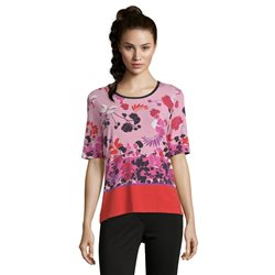 Betty Barclay Floral Print Top Red