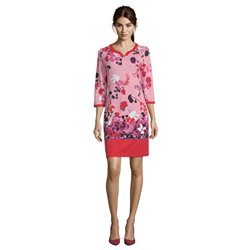 Betty Barclay Floral Print Dress Red