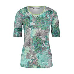 Betty Barclay Graphic Print Top Green