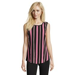 Betty Barclay Striped Sleeveless Top Black