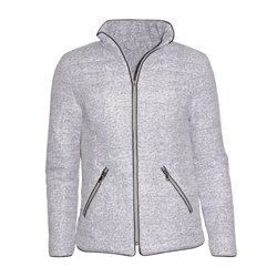 Harvey Fashions Quilted Coat Grey