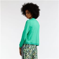 Sandwich Zipped Jacket With Sparkle Detail Green