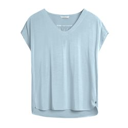 Sandwich Short Sleeve Top Blue