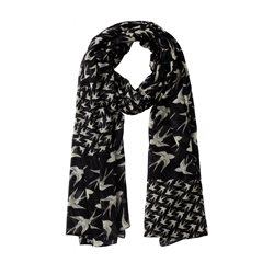Sandwich Swallow Scarf Black
