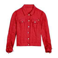 Sandwich Linen Jacket Red