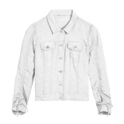 Sandwich Linen Jacket White