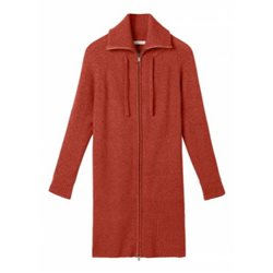 Sandwich Long Zipped Cardigan Crimson