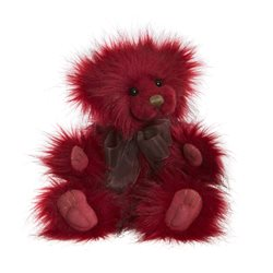 Charlie Bears Jelly Top Plush Collection Red