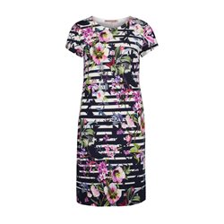 Betty Barclay Floral Dress Dark Blue