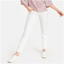 Taifun Cropped Jeans With Frayed Edges White
