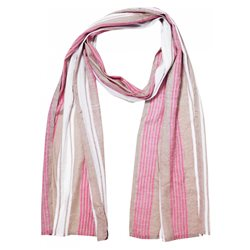 Masai Along Striped Scarf Red