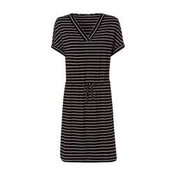 Olsen Stripe Jersey Dress Black