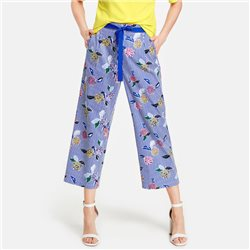 Gerry Weber Floral Pattern Culottes Blue