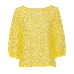Monari Embroidered Paisley Pullover Yellow