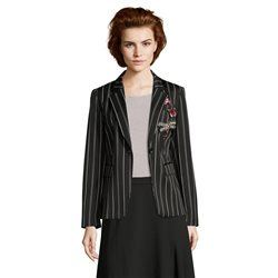 Betty Barclay Pinstripe Blazer Black