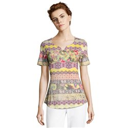 Betty Barclay Bright Ethnic Print Top Yellow