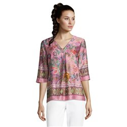Betty Barclay Floral & Ethnic Print Blouse Pink