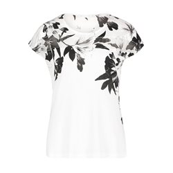 Betty & Co Flower Print Top Off White