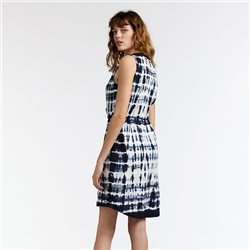 Sandwich Tie Dye Dress Navy