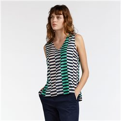 Sandwich Modern Striped Top Navy