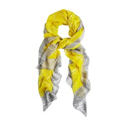 Sandwich Palm Print Scarf Yellow
