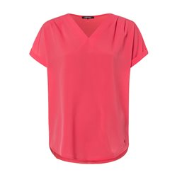 Olsen V Neck Chiffon Front Top Raspberry