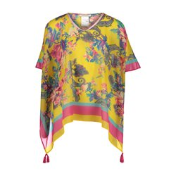 Betty Barclay Floral Print Poncho Yellow