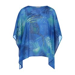 Betty Barclay Panther Detail Poncho Blue