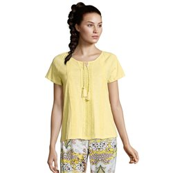 Betty Barclay Embroidery Detail Top Yellow