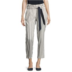 Betty & Co Striped Trousers Off White