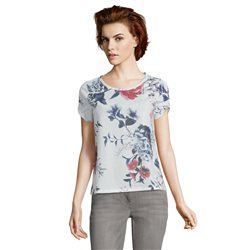 Betty & Co Floral Print Top Off White