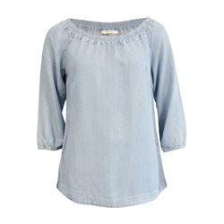 488b4d20db52 Betty Barclay Washed Denim Blouse Blue
