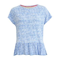 Betty Barclay Stripe Hem Top Blue