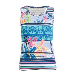 Betty Barclay Floral Print Vest Blue