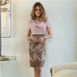 Linea Raffaelli Drape Dress Pink