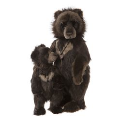 Charlie Bears Big Ron And Little Ron Plush Collection Brown