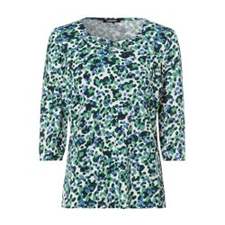 Olsen Printed Criss Cross Top Green