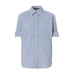 Olsen Striped Cotton Shirt Blue