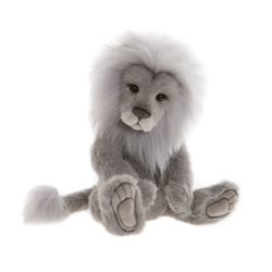 Charlie Bears Clock Plush Collection Grey