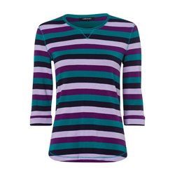 Olsen Striped T Shirt With 3/4 Sleeve Green