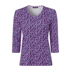 Olsen V Neck Top With Spot Pattern Purple