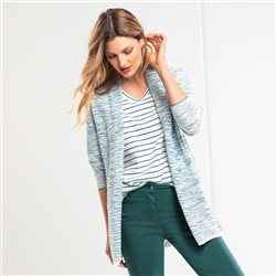 Olsen Cardigan With Parallel Structure Green