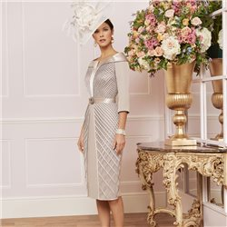 Ronald Joyce 991472 Dress Taupe