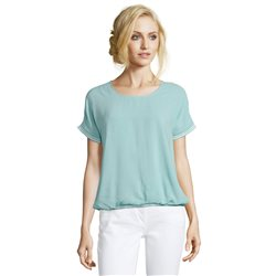 Betty Barclay Short Sleeve Top With Sparkle Hem Light Blue