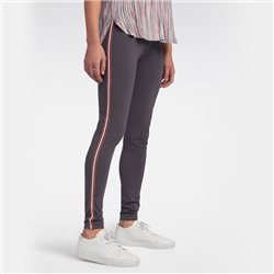 Sandwich Leggings With Piping Detail Grey