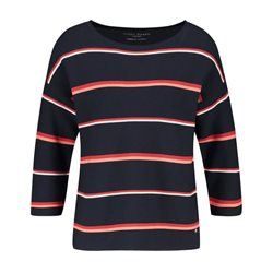 Gerry Weber 3/4 Sleeve Jumper With Stripes Navy