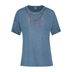 Taifun Decorative Applique Top Blue