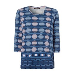 Olsen Large Circle Print Top Navy
