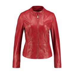 Gerry Weber Nappa Leather Jacket Rust